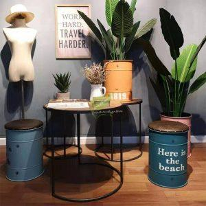 Barkruk | Industriële Barkruk | Retro Barkruk | Vintage Barkruk | Olievat Barkruk | Barrel Barkruk | Vat Barkruk