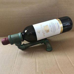 Industrieel Wijnrek | Vintage Wijnrek | Retro Wijnrek – Loft Waterpijp Wandrek voor Wijn