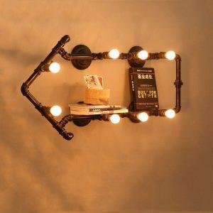 Retro Wandverlichting / Wandlamp | Vintage Wandverlichting / Wandlamp | Industriële Wandverlichting / Wandlamp – Waterpijp / Pijp Lamp Loft