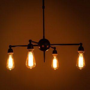 Retro Plafondlamp / Retro Plafond Lamp / Retro Plafondverlichting / Retro Plafond Verlichting – Vintage Plafondlamp / Vintage Plafond Lamp / Vintage Plafondverlichting / Vintage Plafond Verlichting – Industriële Plafondlamp / Industriële Plafond Lamp / Industriële Plafondverlichting / Industriële Plafond Verlichting – American Loft – Houten   Industriële/Vintage/Retro Hanglamp