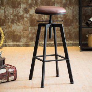 Barkruk | Industriële Barkruk | Retro Barkruk | Vintage Barkruk | Houten/Metalen Barkruk