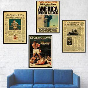Vintage Poster   Retro Poster   Antieke Poster   Oude Poster   Kraft Poster   Retro Print   Vintage Print