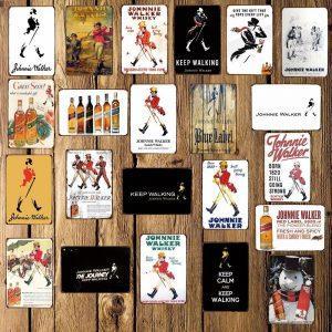 Johnnie Walker Wandbord | Johnnie Walker Merchandise | Johnnie Walker Accessoires