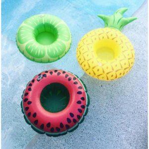Opblaasbare Bekerhouder | Drijvende Beker Houder – Flamingo, Palmboom, Donut, Eend & Zwaan
