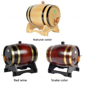 Eiken Houten Vat voor Wijn, Whiskey of Rum | Vintage Wijnvat/Wijndispenser/Whiskeydispenser | Brouwvat/Drankvat | Oak Wood Vat met Kraan