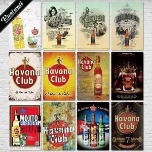 Havana Club Vintage/Retro Emaille Wandbord | Havana Club Merchandise | Havana Club Accessoires
