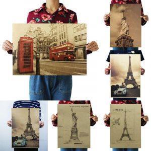 Vintage Poster | Retro Poster | Antieke Poster | Oude Poster | Kraft Poster | Retro Print | Vintage Print
