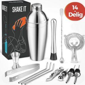 kitchenbrothers-14-delige-rvs-cocktail-shaker-set-cadeauverpakking-
