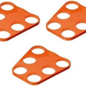 3x-oranje-plastic-bier-trays-6-biertjes-bierblad-biertray-