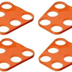 4x-oranje-plastic-bier-trays-6-biertjes-bierblad-biertray-