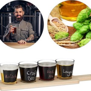 relaxdays-bierproeverij-set-4-glazen-serveerplank-bierproefglazen-